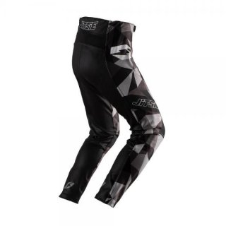 Jitsie Trialhose L3 Polygon Black/Silver/Grey