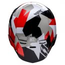 Jitsie Trialhelm HT2 Polygon Black/Red/White
