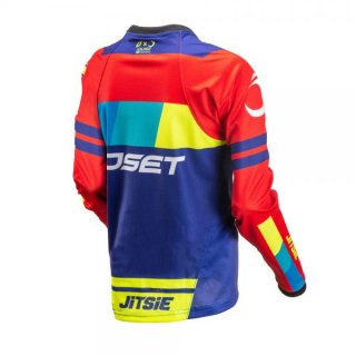 Jitsie Trialhemd Linez OSET KID Red/Fluo/Yellow/Blue