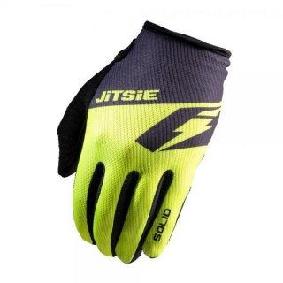 Jitsie Trialhandschuhe G2 Solid KID Fluo Yellow /Black