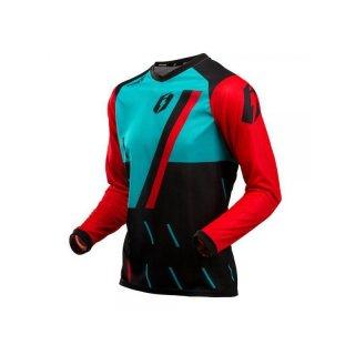 Jitsie Trialhemd L3 Domino Black/Red/Teal