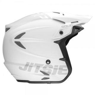 Jitsie Trialhelm HT2 Solid Matt White/Grey