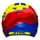 Jitsie Trialhelm HT2 Wave Red / Fluo Yellow / Blue