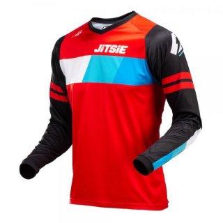 Jitsie Trialhemd L3 Linez Black/Red/Blue