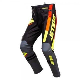 Jitsie Trialhose L3 Linez Black/Grey/Fluo Yellow