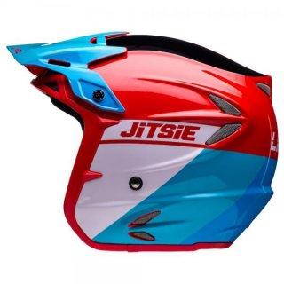 Jitsie Trialhelm HT2 Linez Black/Red/Blue