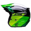 Jitsie Trialhelm HT2 Linez Green/Black/White