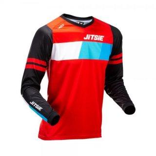Jitsie Trialhemd K3 Linez KID Black/Red/Blue