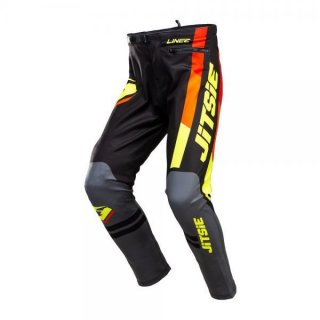 Jitsie Trialhose K3 Linez KID Black/Grey/Fluo Yellow